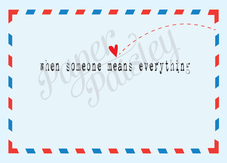 Distance Means Nothing When Someone Means Everything Care Package Sticker Kit