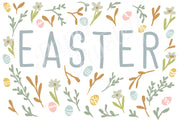 Happy Easter Floral Care Package Sticker Kit