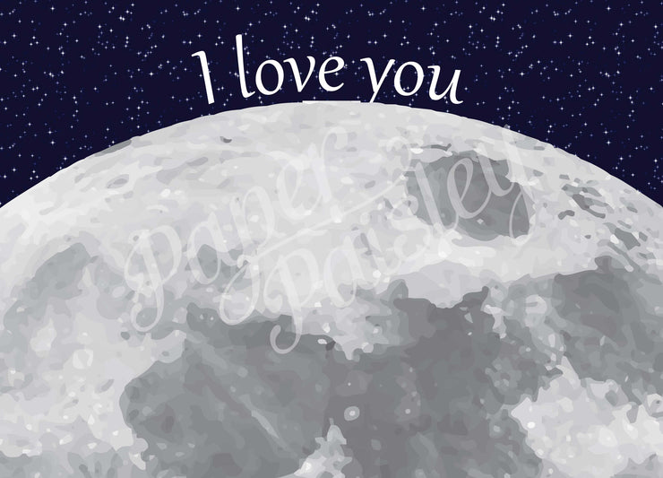 I Love You to the Moon Care Package Sticker Kit