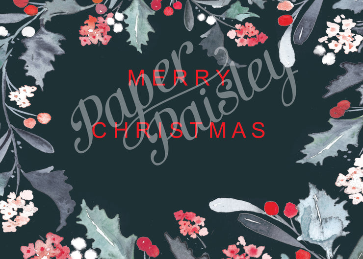 Merry Christmas & Happy New Year Care Package Sticker Kit
