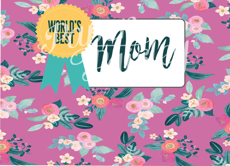 World's Best Mom Care Package Sticker Kit