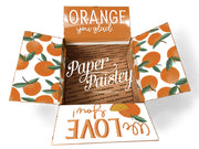 Orange We Love You Care Package Sticker Kit