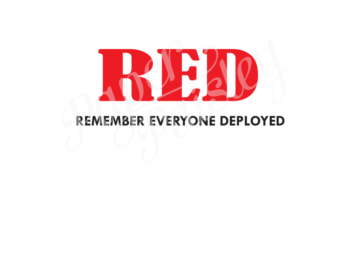 RED - Remember Everyone Deployed Care Package Sticker Kit