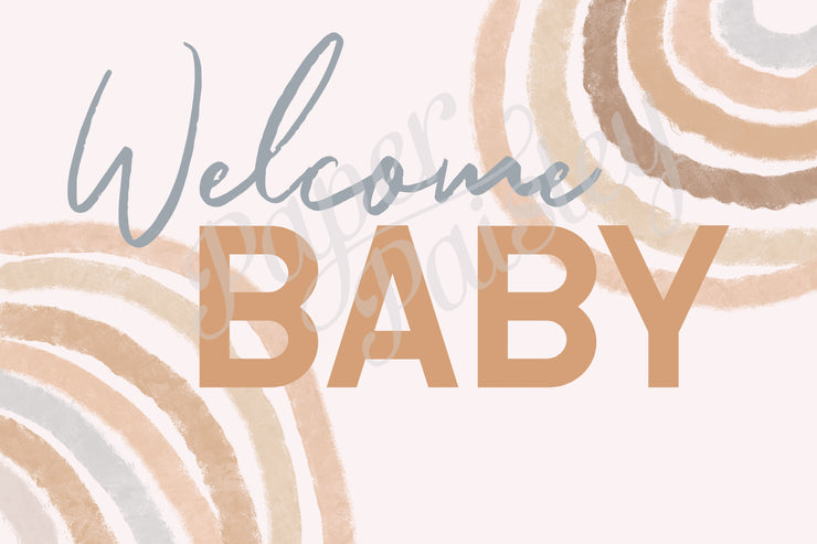 Welcome Baby Care Package Sticker Kit