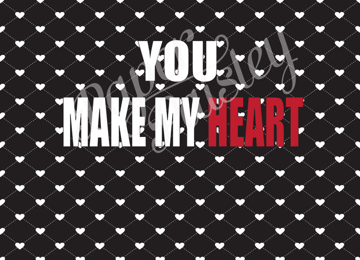 You Make My Heart Skip a Beat Care Package Sticker Kit