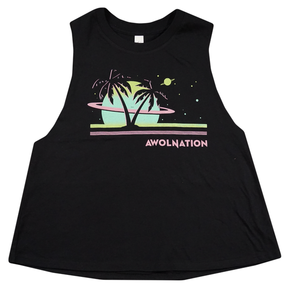 Ladies Space Waves Crop Tank