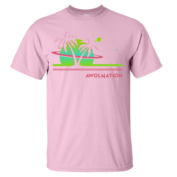 Space Waves Pink Tee