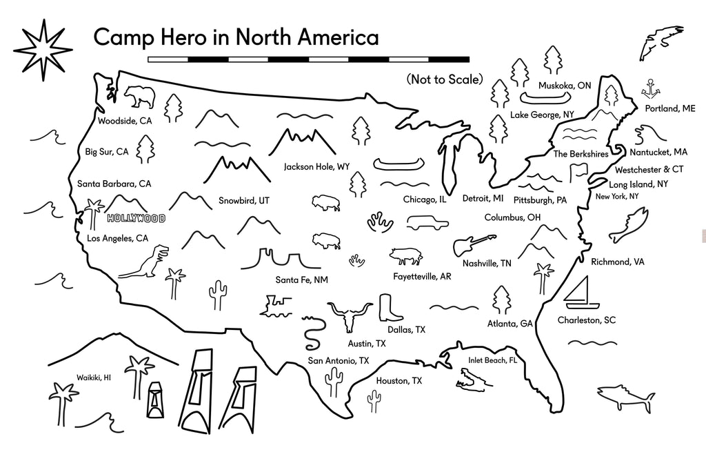 Camp Hero beaded belts map