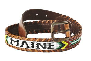 Maine beaded destination belt close