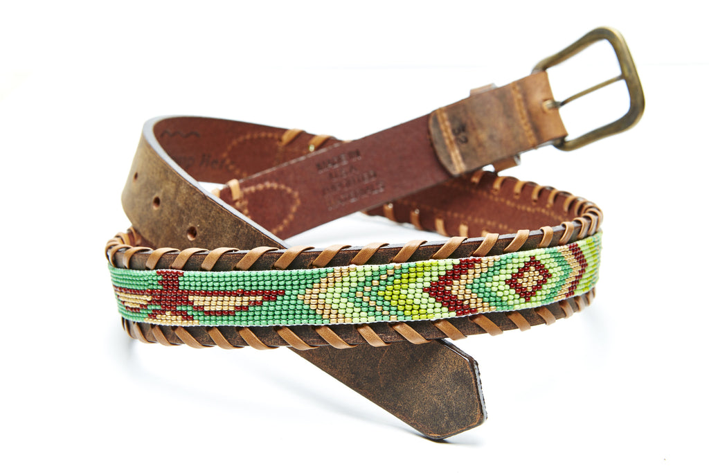 Skybird Greens beaded Camp belt close
