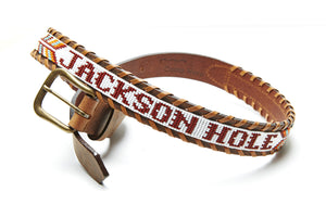 Jackson Hole beaded Destination belt close