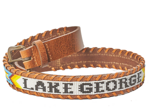 Lake George beaded Destination belt close