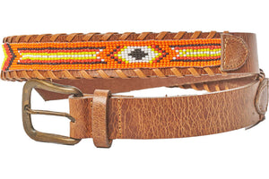 Montauk beaded camp belt side