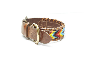 Rainbow Skybird Beaded Dog collar side