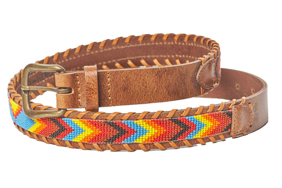Skybird Multi beaded camp belt close up