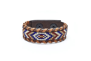 Neutral Macko beaded cuff close