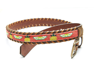 Pineapple and Lime beaded Camp belt close