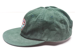 Green Cool Rancher cap with steer pendant