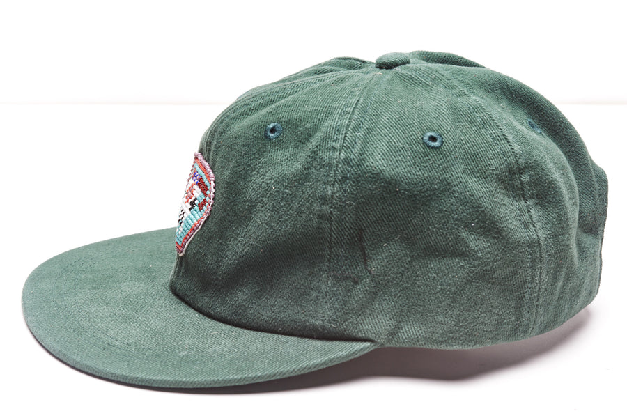 Green Cool Rancher hat with steer emblem