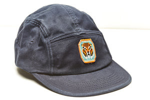 Camp leader cap navy blue with tiger pendant