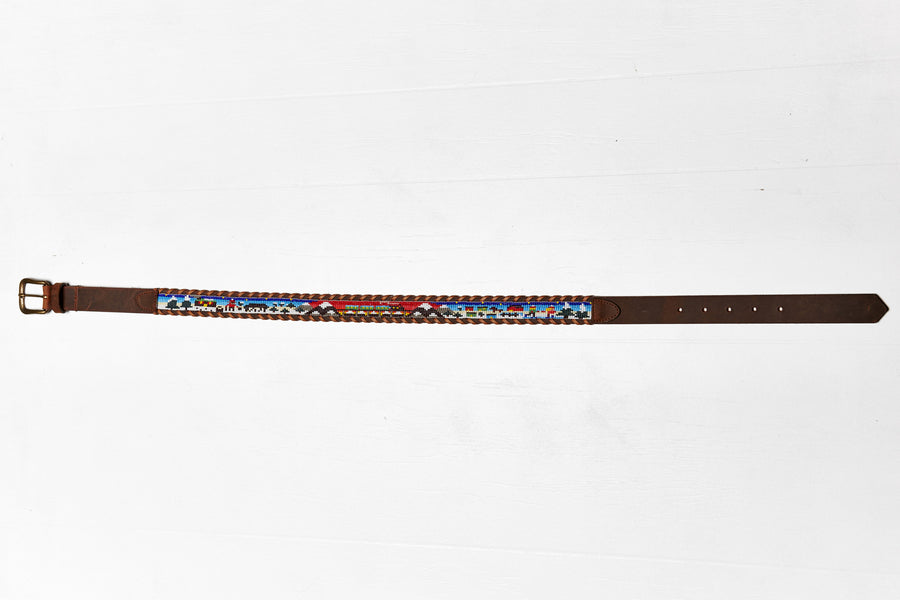 Winter Escape beaded Camp Belt close