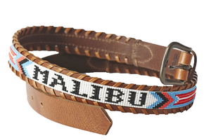 Malibu beaded destination belt close