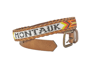 Montauk beaded Camp belt close