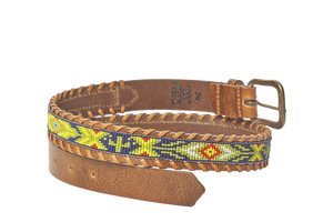Desert Cactus beaded Camp belt close