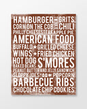 American Foods Subway Art Print -  Chocolate Color Poster
