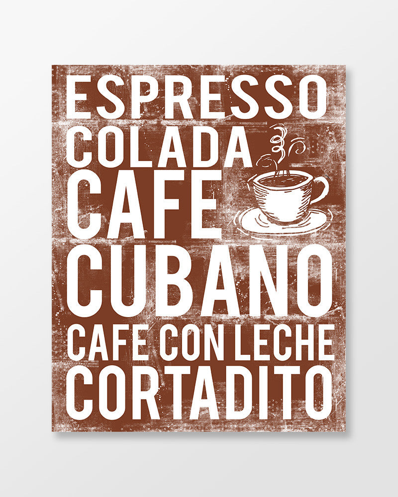Cuban Coffee, Cafe Cubano Subway Art Print - Poster
