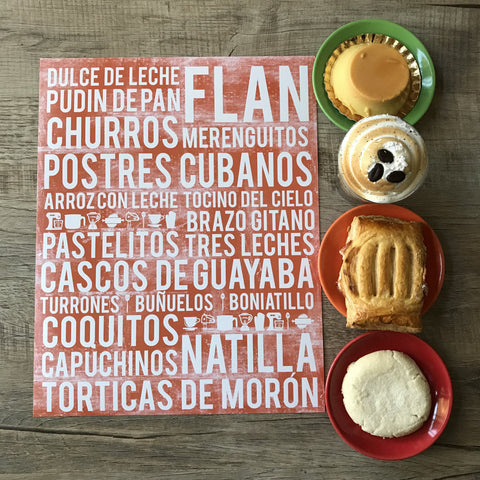 Cuba Poster - Cuban Desserts | Subway Style Word Art - MartaDarbyDesigns