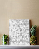 Cuban Food - Subway Art Print - Canvas