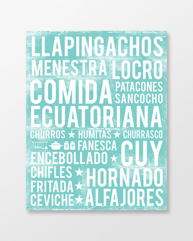 Ecuadorian Food Subway Art Print - Poster - MartaDarbyDesigns