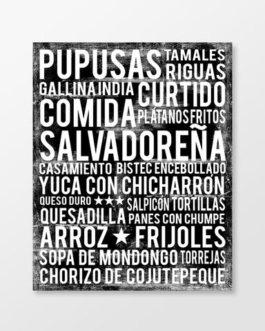 El Salvador Food Subway Art Print - Poster - MartaDarbyDesigns
