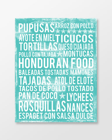 Honduras Food Subway Art Print - Poster - MartaDarbyDesigns