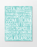 Italian Food - Subway Art Print - Sea Foam Color Poster