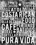 Costa Rican Food Subway Art Print -  Black Color Poster