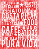 Costa Rican Food Subway Art Print -  Cherry Color Poster