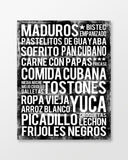 Cuban Food Subway Art Print - Poster - MartaDarbyDesigns