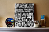 Cuban Food - Subway Art Print - Black Color Canvas