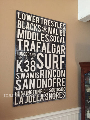 Custom Subway Art Print - Poster - Personalized Word Art - MartaDarbyDesigns