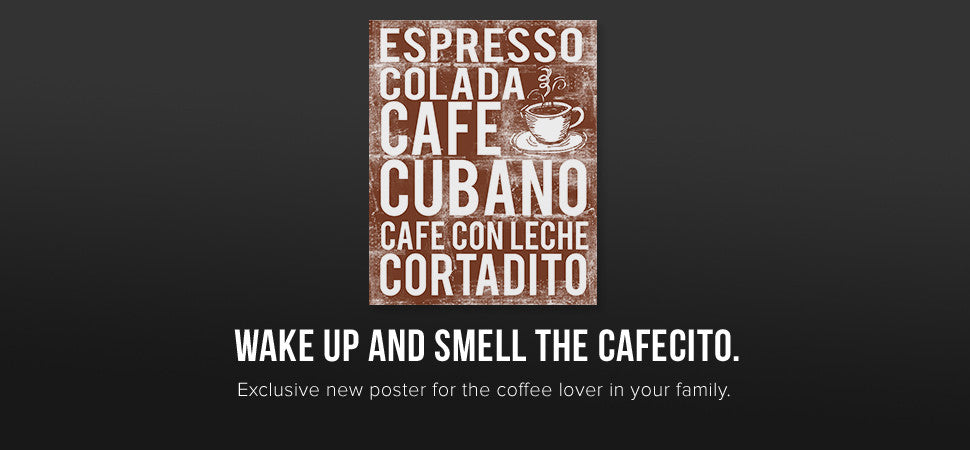 Cuban Coffee Subway Art Poster
