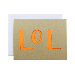 LOL Laser cut card