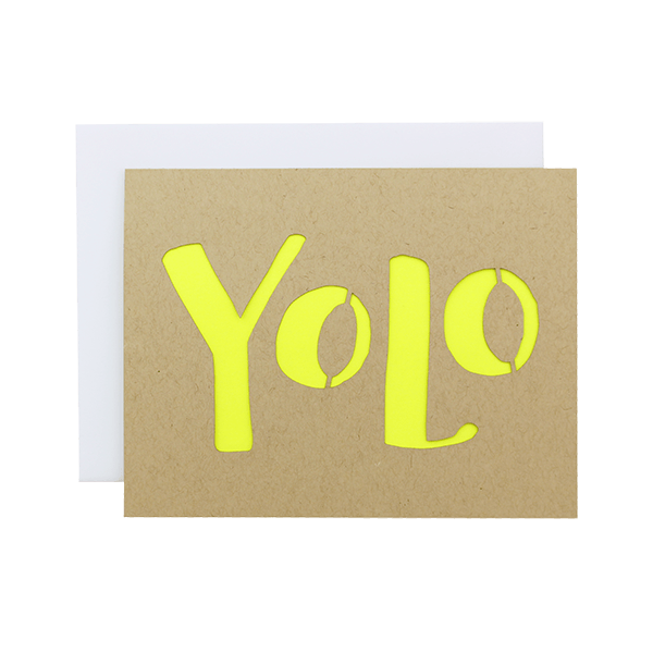 Yolo Laser Cut Card