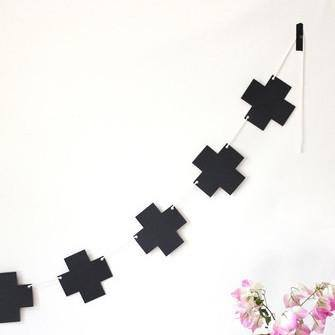 Black Cross Plus Garland