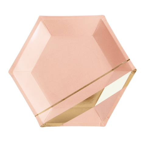 Blush Hexagon Party Plates