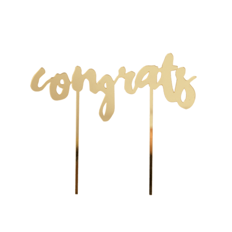 Congrats Gold Mirrored Topper