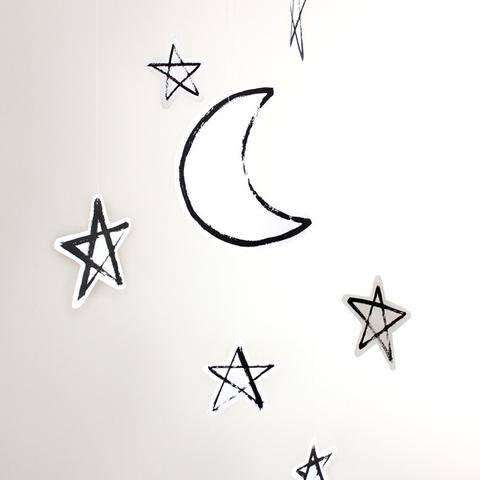 Moon & Stars Hanging Decor