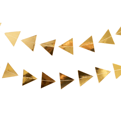 Gold Triangle Garland