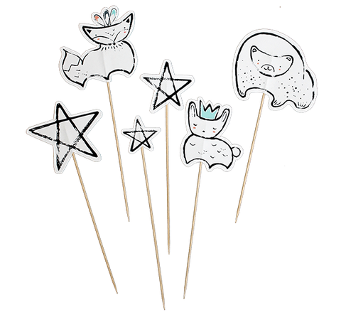 Woodland Animal/Star Cake Toppers